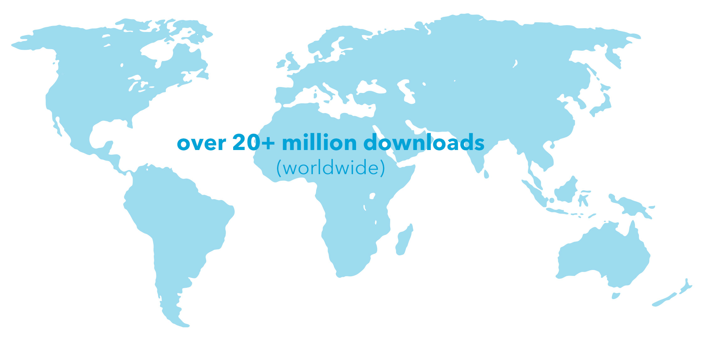 Downloads across the world